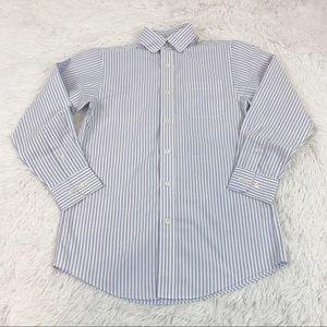 Class Club long sleeve striped button up shirt